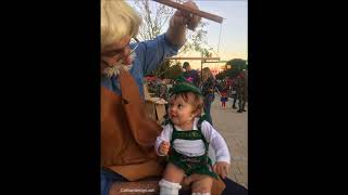 Pinocchio's cousin, Delilah wins her first Halloween contest! (Baby puppet)