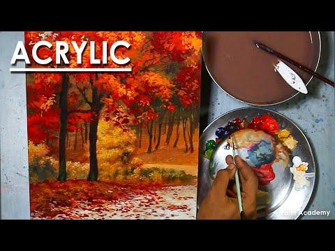 Acrylic Painting : A Composition on Autumn