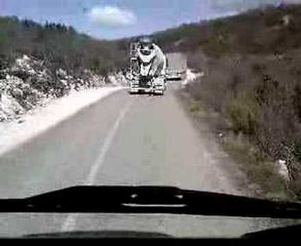 Vožnja iza miksera