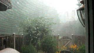 It's raining sideways!