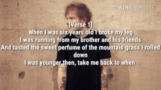 Castle On The Hill - Ed Sheeran {Lyrics}