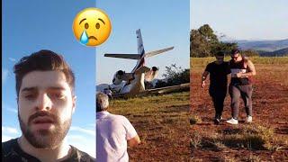 DJ Alok sofre acidente de avião durante decolagem