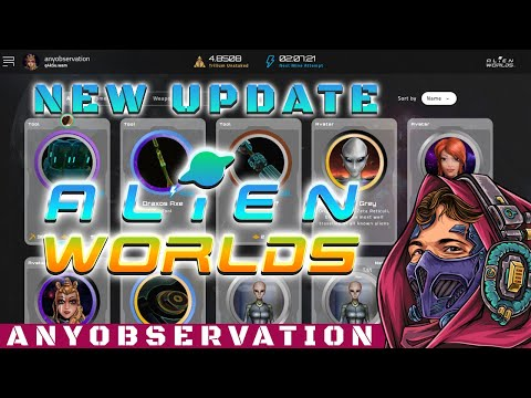 New alienworld update | Sweet new interface! More incoming