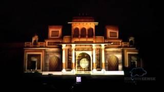 3D Projection Mapping Rambagh wedding (Taj Rambagh palace,Jaipur) Rajasthan, India