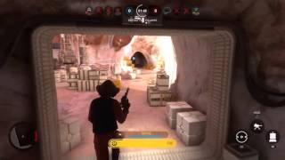 1v2 - Nien Nunb vs Vader & Greedo (Star Wars Battlefront)