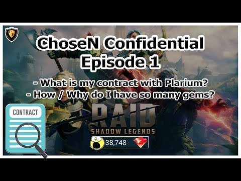 RAID Shadow Legends | ChoseN Confidential #1 | Do I have a Plarium contract? Why so many gems?