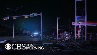 Dallas tornado leaves trail of destruction
