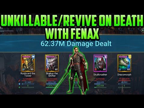 Unkillable, Revive on Death, Fenax All in One I Raid Shadow Legends