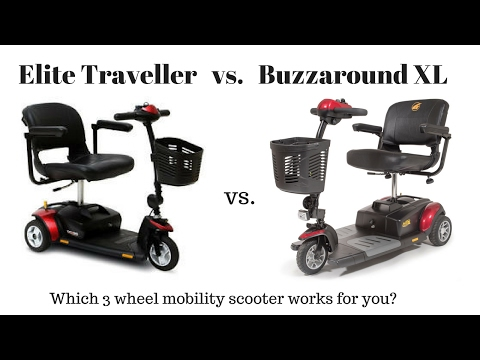 Buzzaround XL vs Elite Traveller 3 Wheel Scooter