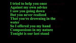Papa Roach-Scars (lyrics)