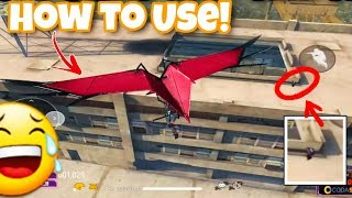 How To Use Glider || Tips and Tricks || Best Technique To Use Glider New Guns - Garena Free Fire