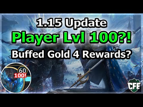 RAID Shadow Legends | 1.15 Update | Player Level 100?! | New Gold 4 Rewards