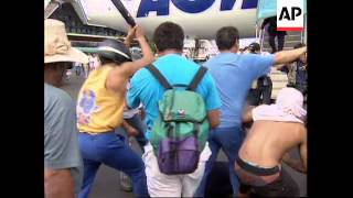 TAHITI: RIOT POLICE CLASH WITH ANTI NUCLEAR DEMONSTRATORS