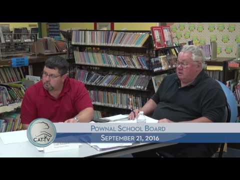 Pownal School Board - 9/21/16