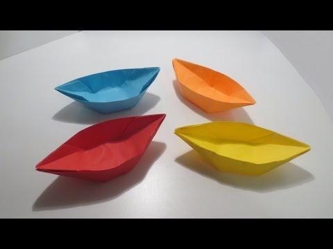 كيف تصنع قوارب جميله من ورق ?