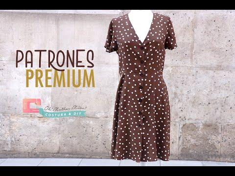 Vestido abotonado para mujer (tallas de 36 a 44)