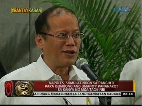 Napoles, sumulat noon kay PNoy tungkol sa umano'y pananakot ng mga taga-NBI