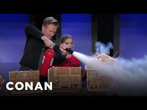 Conan Makes Gingerbread Structures With Melody Crafts - CONAN on TBS