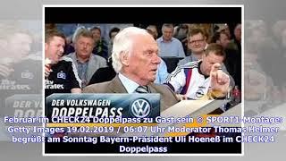 CHECK24 Doppelpass mit Bayern-Präsident Uli Hoeneß LIVE im TV & Stream