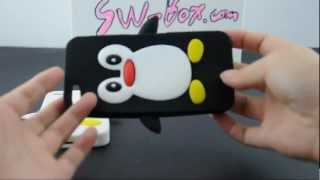 Top Soft Silicone Jelly Skin Case for iPhone 5-Penguin