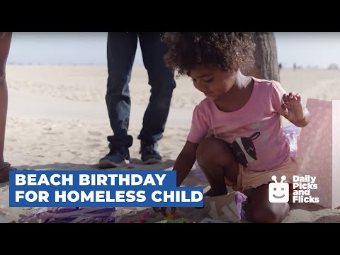 Homeless Girl Celebrates Birthday at the Beach