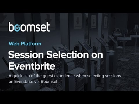 Session Selection on Eventbrite
