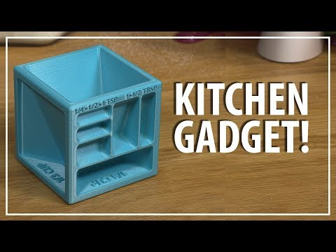 3D Printing a Measuring Cube Kitchen Gadget + Thoughts on FDA Approved Filament and 3D Printing