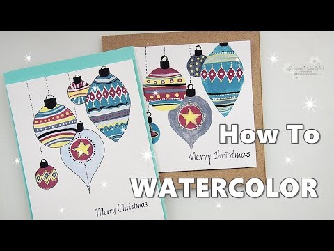 How to paint Baubles Christmas Ornaments in Watercolor ♡ Maremi's Small Art ♡
