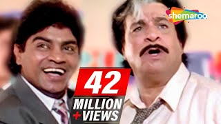 Most Entertaining scenes of Johnny Lever & Kader Khan from 90's Hindi comedy Movie - Dulhe Raja