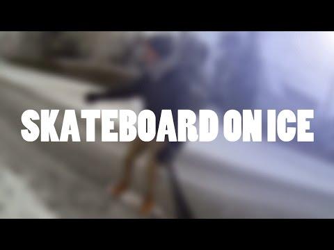 SKATEBOARD ON ICE