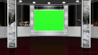 virtual studio background - green screen effect