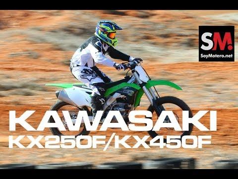 Kawasaki KX450F y KX250F 2018: Prueba Moto Motocross [FULLHD]