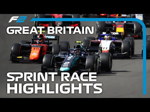 F2 Sprint Race Highlights | 2020 British Grand Prix
