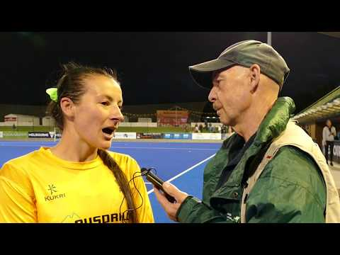 Tamsin Bunt. 2nd cap got the Hockeyroos. Womens hockey player.