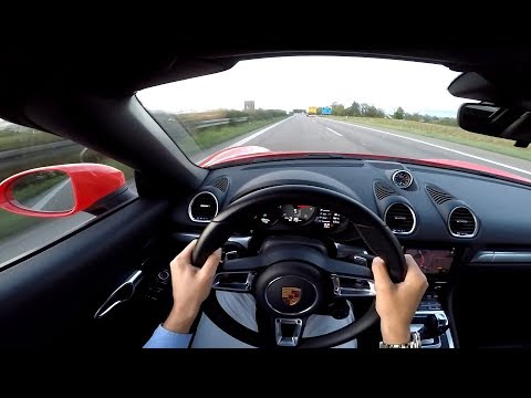 267kph Porsche 718 Boxster S POV High Speed Autobahn Run