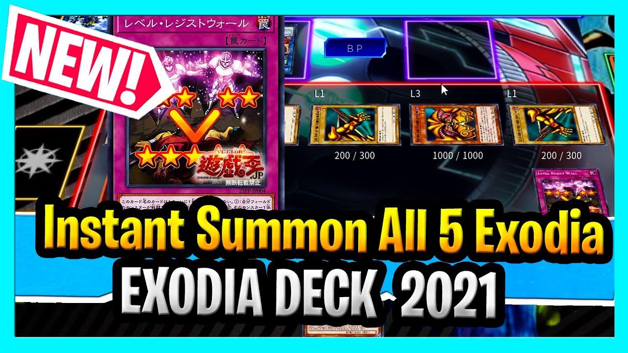 SLAYDRA - Instantly Summon All 5 Exodia Cards In 2021 Using New YuGiOh Level Resist Card Exodia Deck 2021