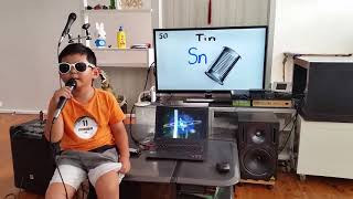 6yo Sydney Boy (Makan) sings The Periodic Table Song (2018 UPDATE!)
