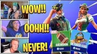 MYTH REACTS TO *NEW* HIEDI AND LUDWIG SKIN (Fortnite funny and wtf moments)