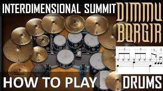 HOW TO PLAY Dimmu Borgir Interdimensional Summit on DRUMS