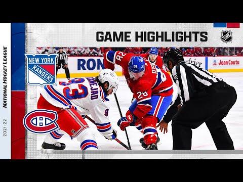 Rangers @ Canadiens 10/16/2021 | NHL Highlights