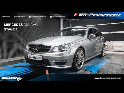 Mercedes W204 C63 AMG / Stage 1 By BR-Performance / *BRUTAL* MILLTEK Exhaust