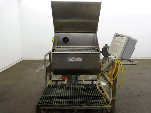 Used- Jacmor Engineering Double Spiral Ribbon Batch Mixer - stock # 46084001