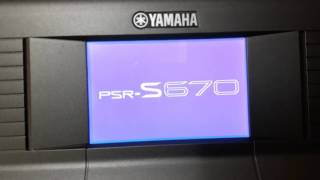 YAMAHA PSR-S670 DEMO - COVER BY 小文
