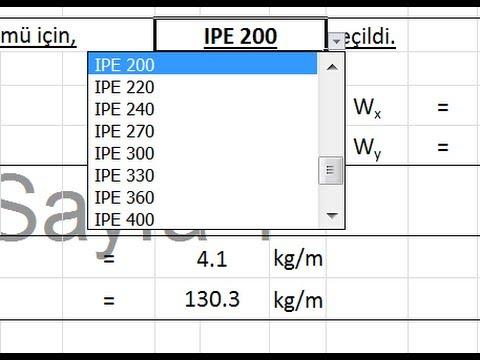 Excel'de hücre içerisine açılır kutu ekleme
