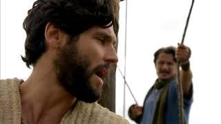 Jesus ordena que Pedro jogue a rede no mar e milagre acontece
