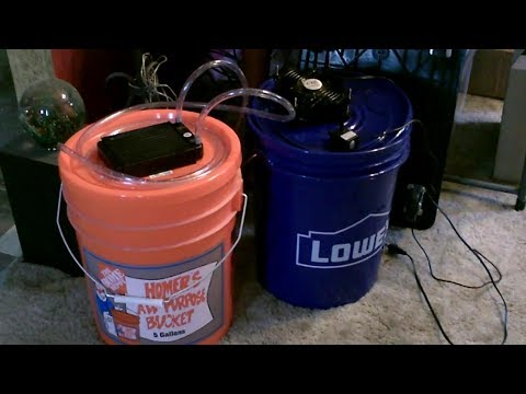 """DIY """"Ice-Water Fueled"""" Air-Cooling Fan! (w/DIY Ice-Chest!) """"5 Gallon"""" AC Cooler! w/radiator! final!"""