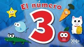 El número 3 para niños en español - Videos Aprende