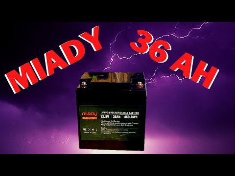 Miady 12V 36Ah Deep Cycle LiFePO4, 2000 Cycles Rechargeable Battery.