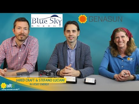 We sit down with Blue Sky Energy and Genasun, maker of solar charge controller, to learn what makes their solar charge controllers unique. We go over their two product lines, Genasun and BlueSky, and how to decide which line works best for your DIY solar p