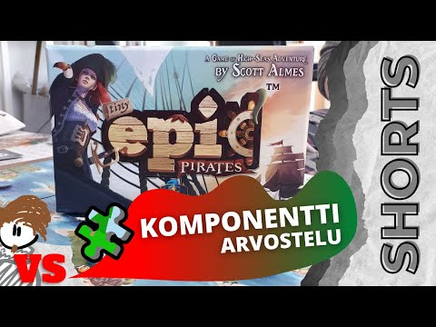 Onko piraattipelin komponentit laadukkaat? | ANTON VS TINY EPIC PIRATES -LAUTAPELI #SHORTS